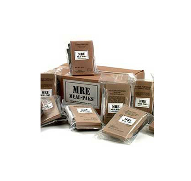 MRE survival food packages