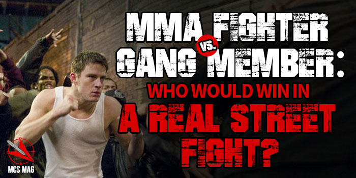 Real Street Fight: MMA Cage Fighter Vs. Gang Thug Street Fighter