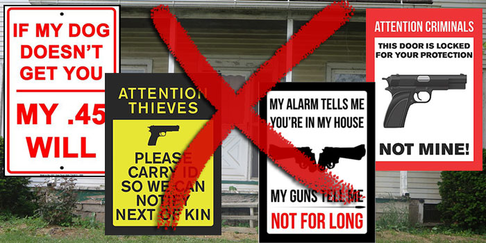 Funny Gun Rights Signs