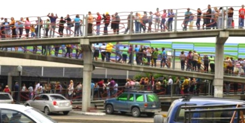 Venezuela Food Lines: Store Survival Food Now!